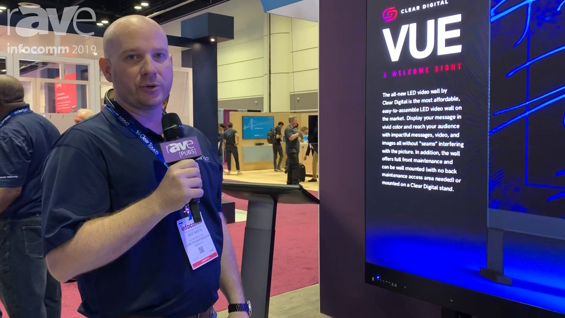InfoComm 2019: Clear Touch Shows Clear Digital VUE 110-, 138-, 165- & 220-Inch Pre-Packed LED Walls