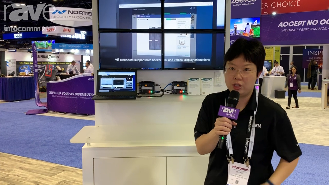 InfoComm 2019: ATEN Demos VE8950R 1G Network 4K AV-over-IP Transmitter and Receiver
