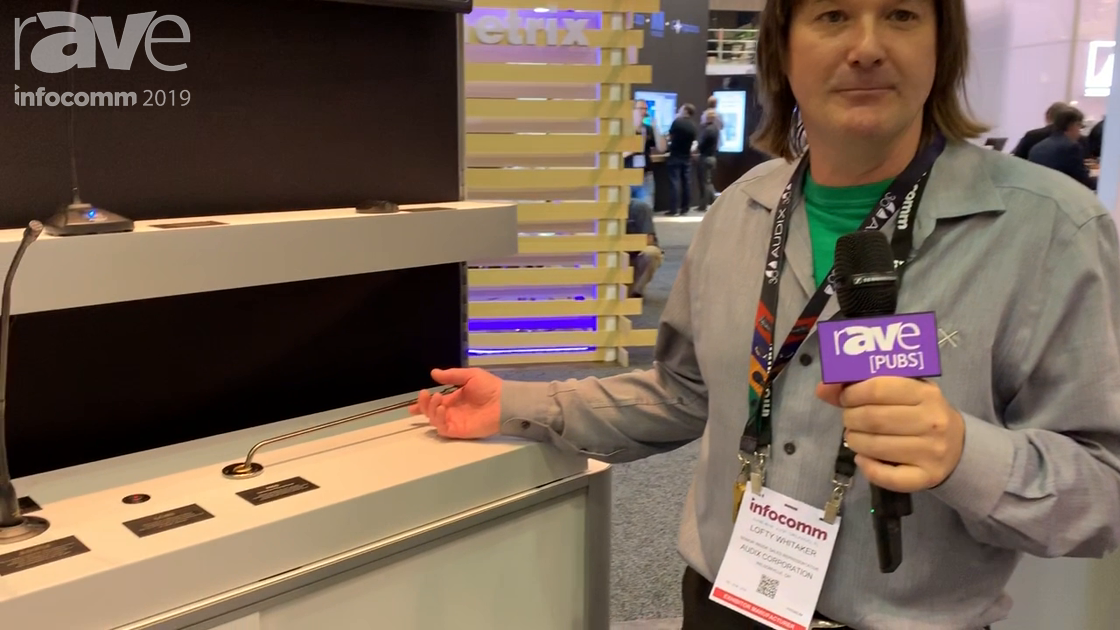InfoComm 2019: Audix Presents M65 Podium, Lectern and Table Microphone that Pivots and Swivels