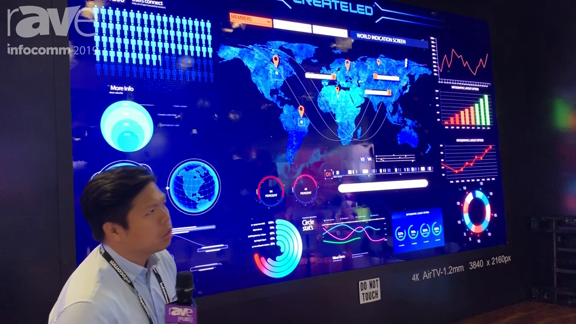 InfoComm 2019: CreateLED Shows AirTV 0.8mm and 1.2mm LED Video Wall with a Matte or Gloss Surface