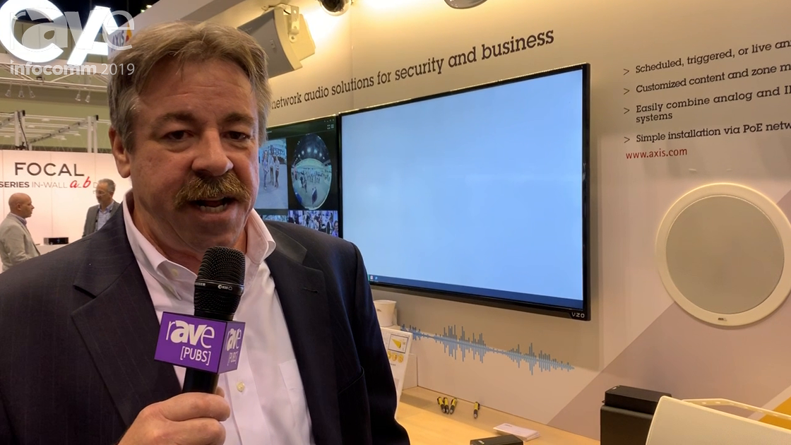 InfoComm 2019: Axis Communications Showcases Its C1004-E Network PoE Cabinet Speaker