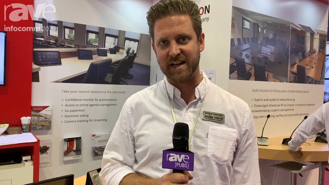 InfoComm 2019: Media Vision USA Shows Taiden 5606 Digital Infrared Presentation Microphone
