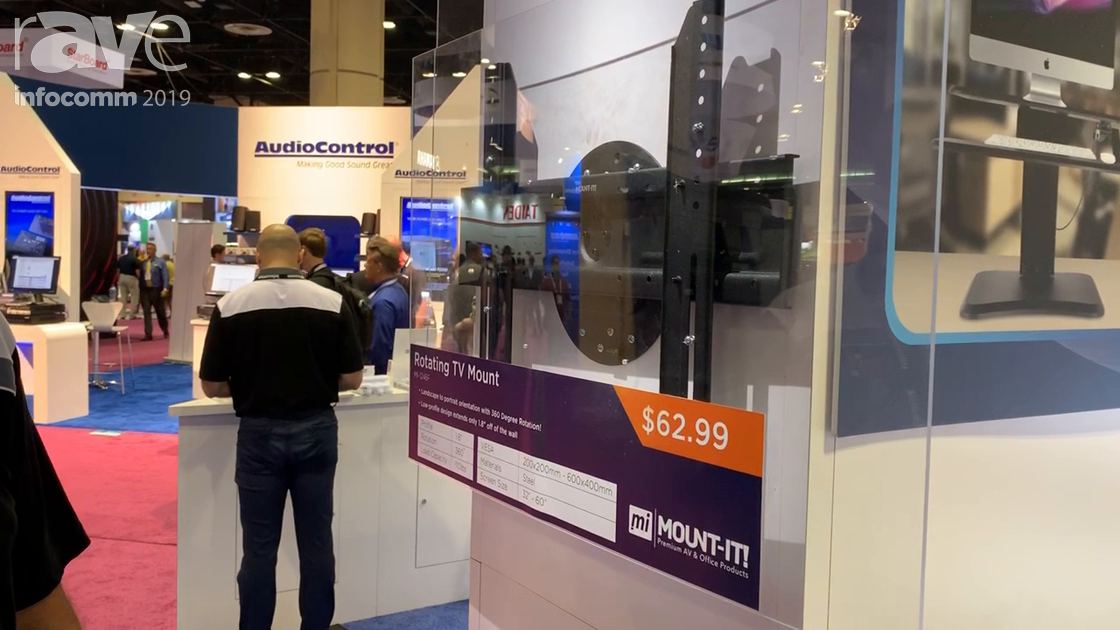 InfoComm 2019: Mount-It! Features MI-1246F Rotating TV Mount with Full 360 Degree Rotation
