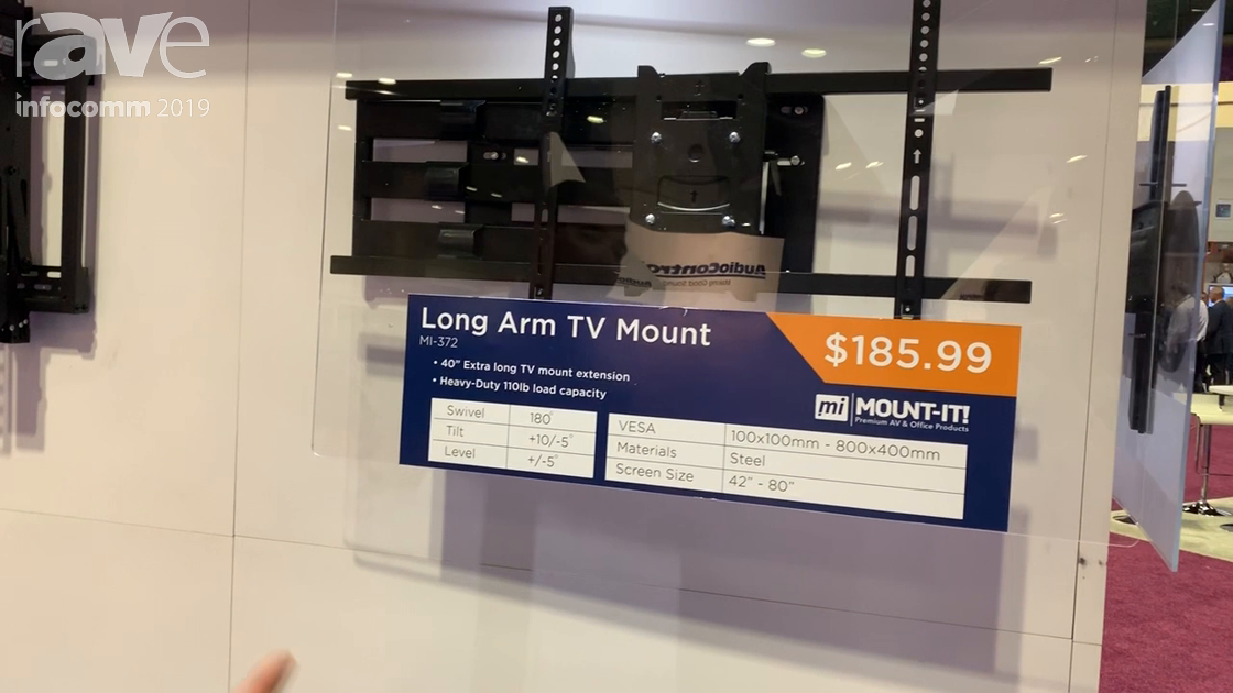 InfoComm 2019: Mount-It! Presents MI-372 40-Inch Extension Long Arm Display Mount