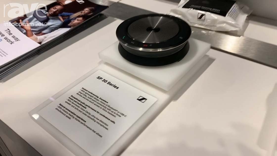 InfoComm 2019: Sennheiser Showcases SP 30 Speakerphone with Bluetooth and USB-C