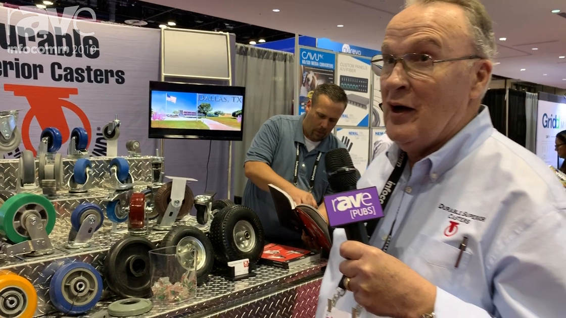 InfoComm 2019: Durable Superior Casters Showcases Superior Casters