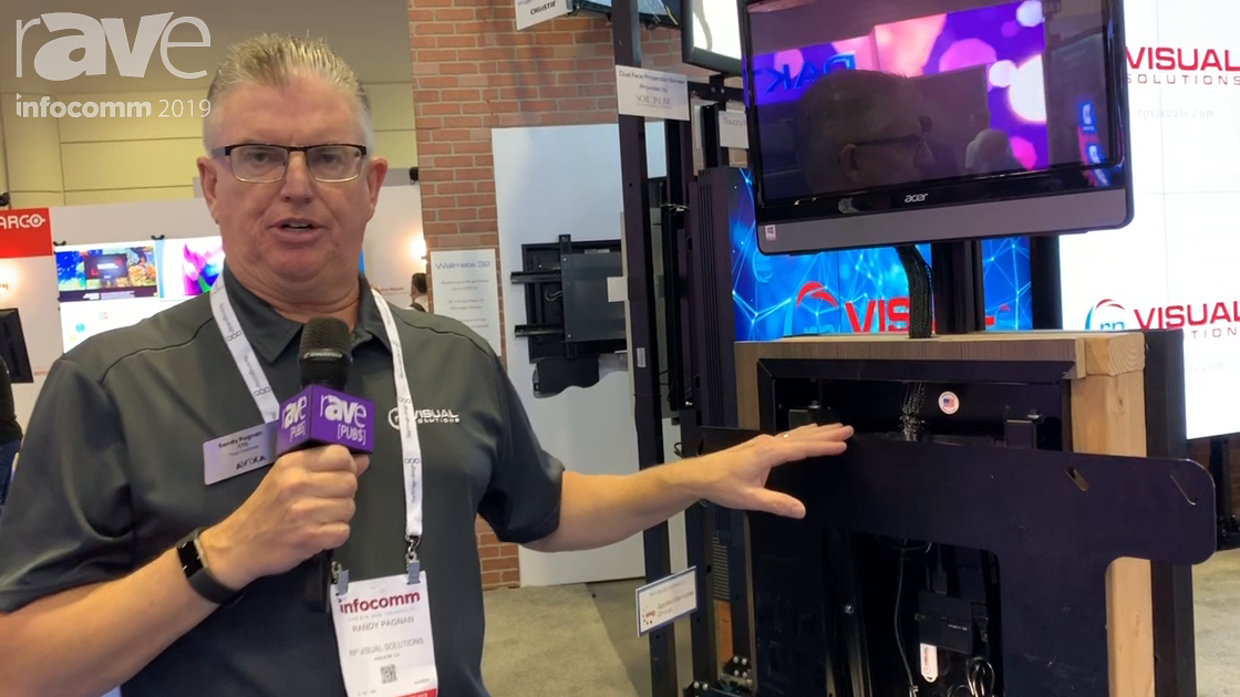 InfoComm 2019: rp Visual Solutions Presents Wallmate 32 Max for up to 98-inch Flat Panels