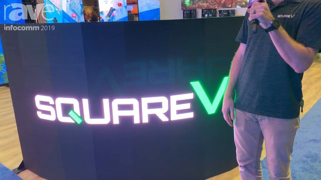 InfoComm 2019: SquareV Presents V Curve LED Display with 10-Degree Curve Radius