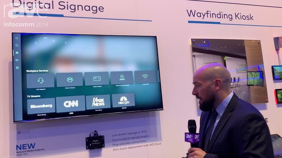 InfoComm 2019: Crestron Intros NME-100 Network Media Endpoint, Shows XiO Cloud, Appspace, Kiosking