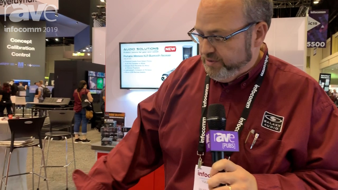 InfoComm 2019: Galaxy Audio Introduces JIB/BT8R Stereo Bluetooth Receiver