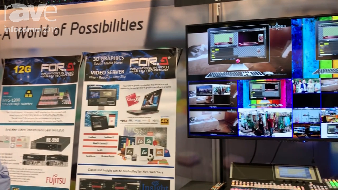 InfoComm 2019: FOR-A America Shows HVS-490 Video Production Switcher