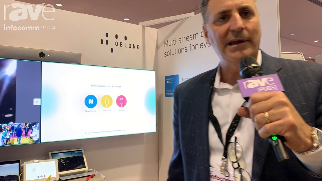 InfoComm 2019: Oblong Mezzanine Demos Integration with Cisco and Cisco Spark Collaboration Solution