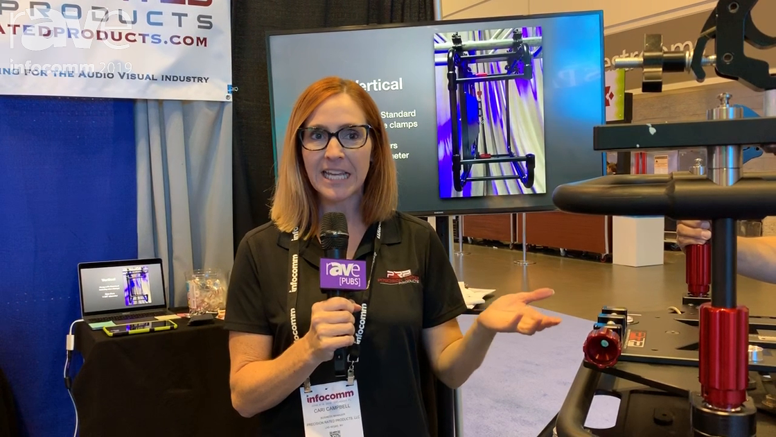 InfoComm 2019: Precision Rated Products Demos Projector Plate to House Projector Cage Onto Truss