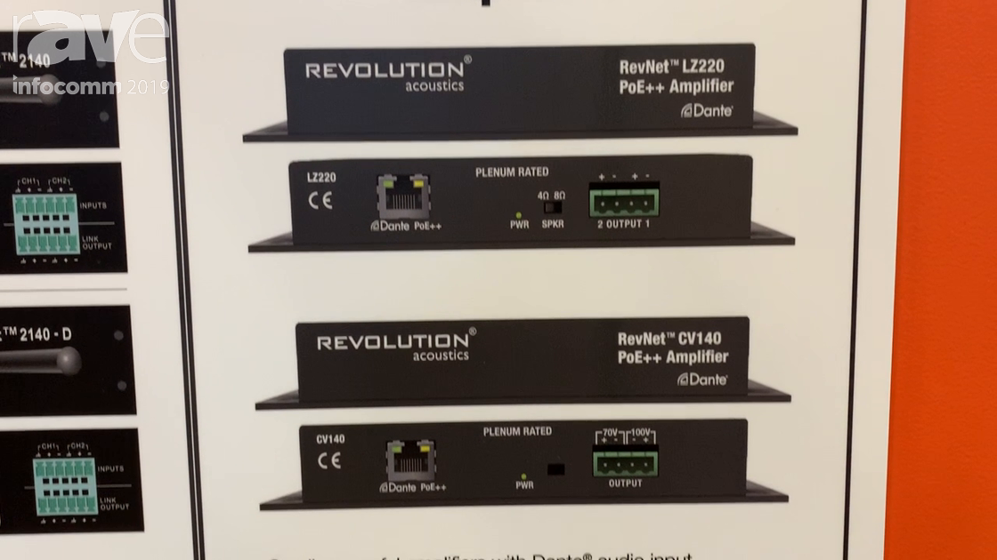InfoComm 2019: Revolution Acoustics Presents Its RevNet PoE++ Amplifiers