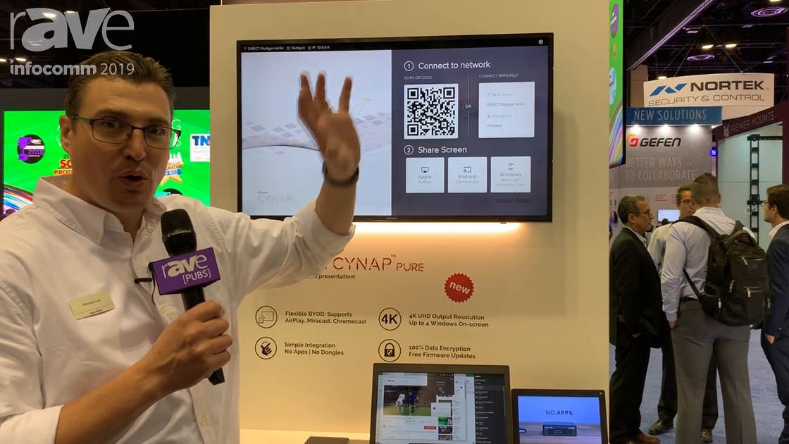 InfoComm 2019: WolfVision Shows Off Cynap Pure for App-less and Dongle-less Wireless Collaboration