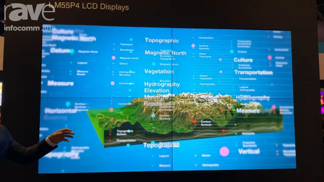 InfoComm 2019: Mitsubishi Electric Shows LM55P4 Narrow .9mm-Bezel LCD Display for 24/7 Applications