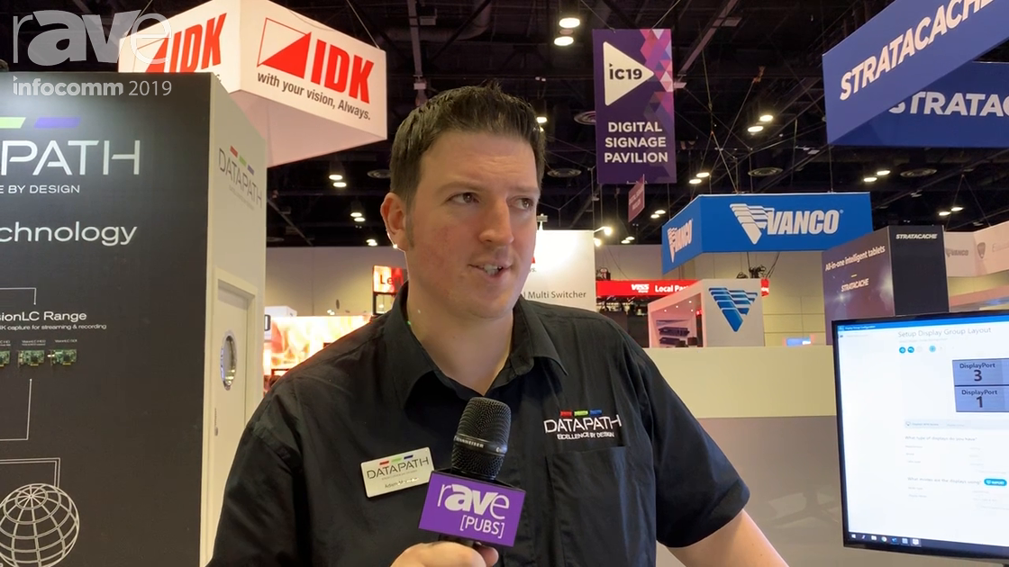 InfoComm 2019: Datapath Presents Driver Configuration Tool for Video Wall Controllers