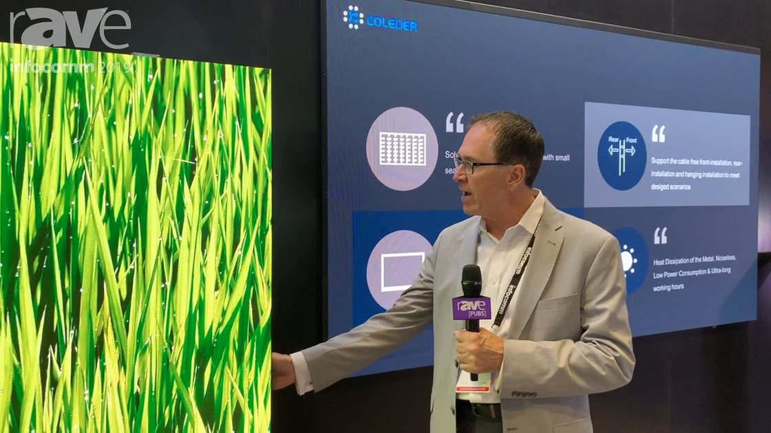 InfoComm 2019: Coleder Shows Ace Block Wall-Mobile Cart, a Mobile Fine Pixel Pitch LED Display
