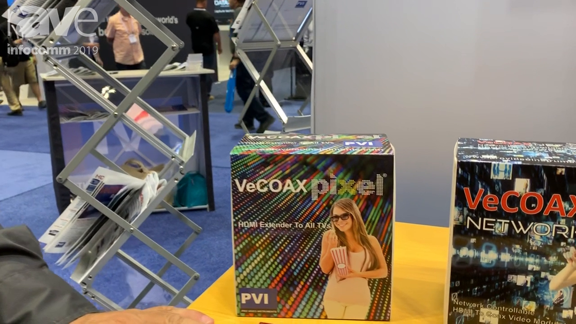 InfoComm 2019: ProVideoInstruments Shows VeCOAX PIXEL 720 Dolby HDMI RF Modulator for HDMI to Coax