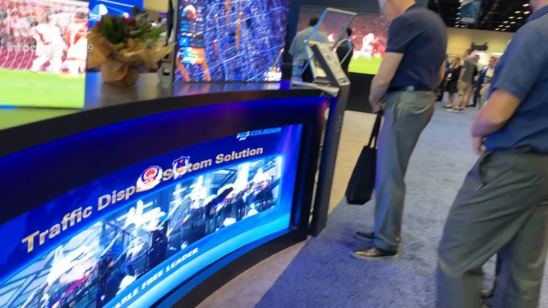 InfoComm 2019: Coleder Demos Fixed Install Curved and Corner LED Panels