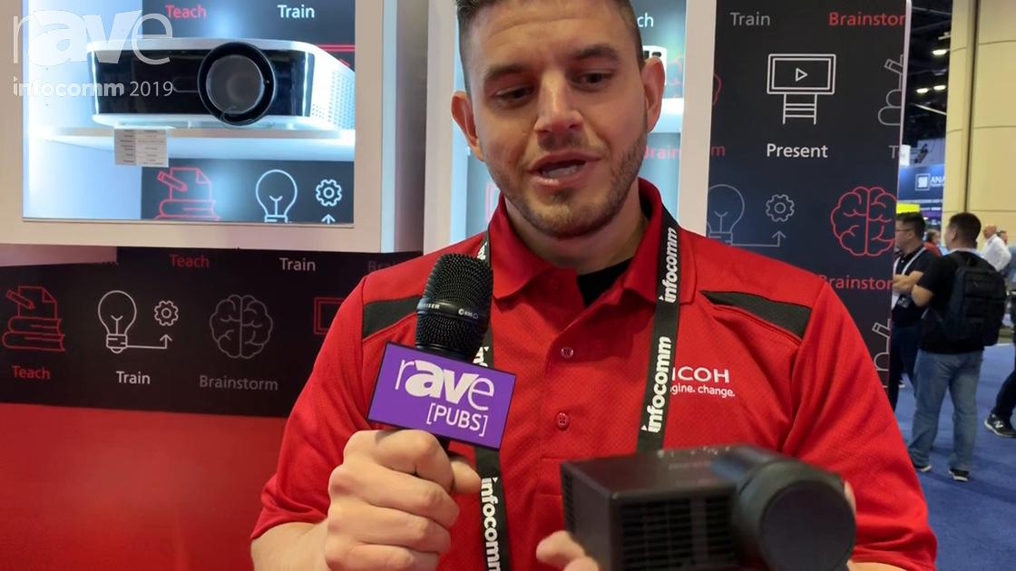 InfoComm 2019: Ricoh Exhibits Its PJ WXC1110 Ultra Short Throw Pico Projector