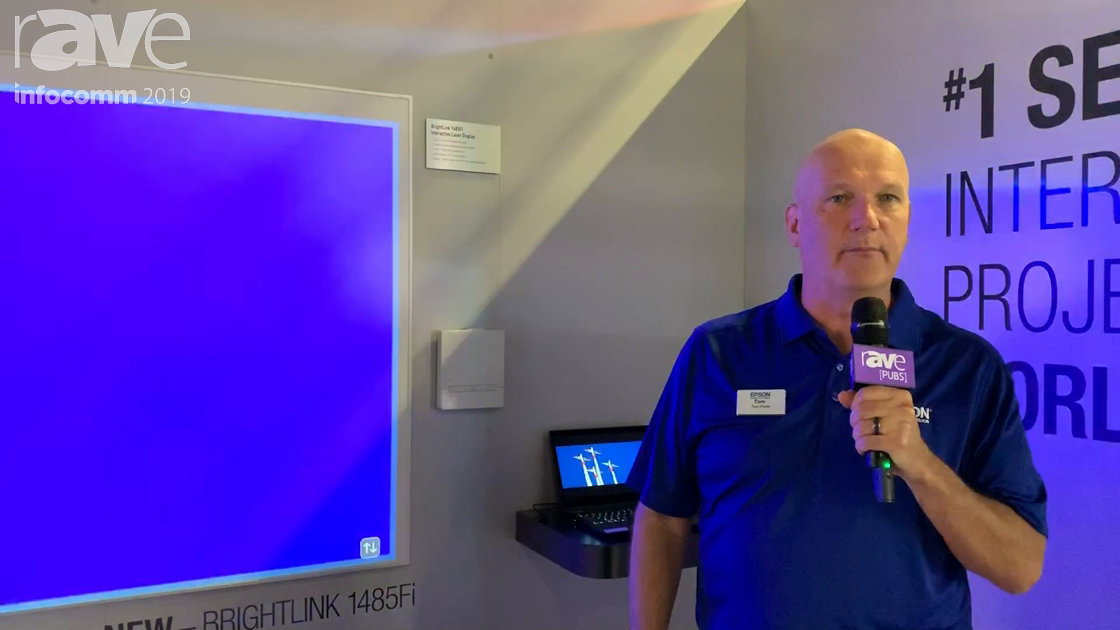 InfoComm 2019: Epson Intros Brightlink 1485Fi 5000-Lumen Interactive Projector With Pen/Finger Touch