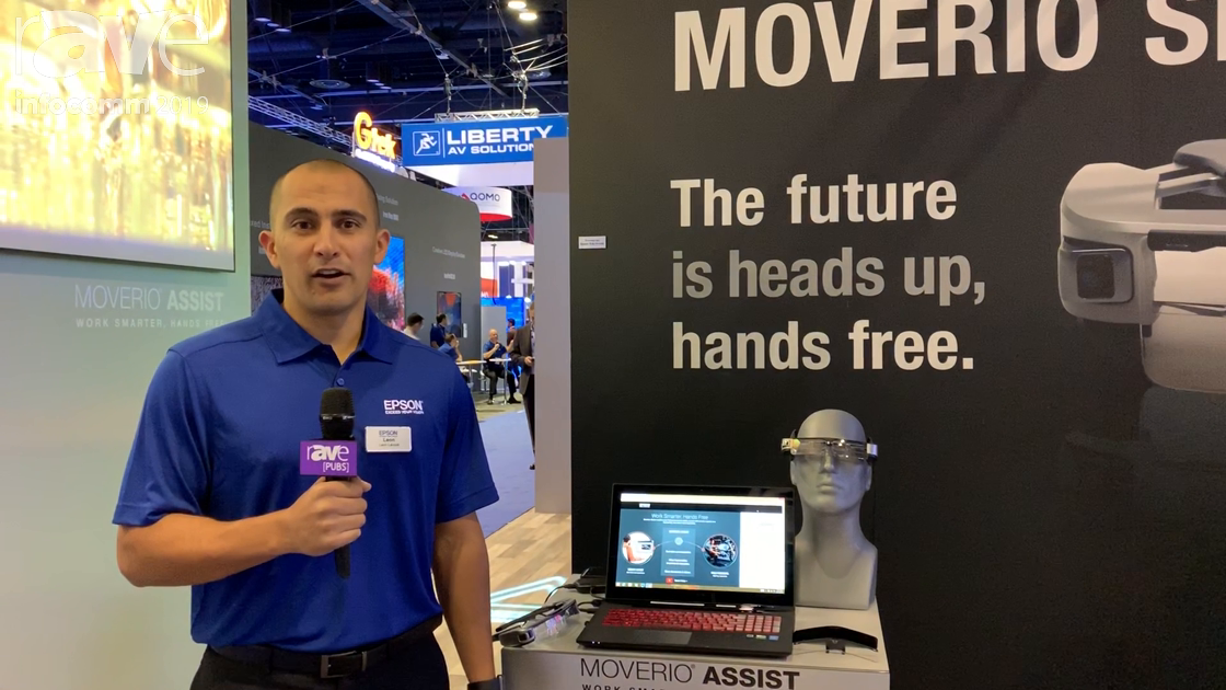 InfoComm 2019: Epson's Moverio Assist Allows Field Technians to Connect to Support With AR Glasses