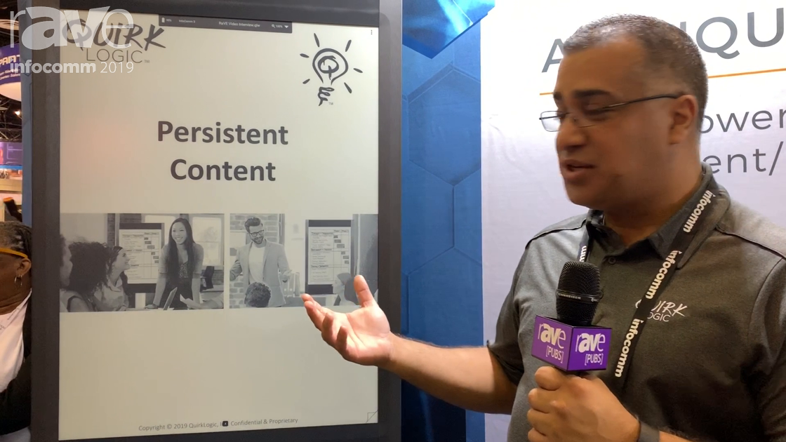 InfoComm 2019: QuirkLogic Talks About Persistent Content on the Quilla Interactive Display