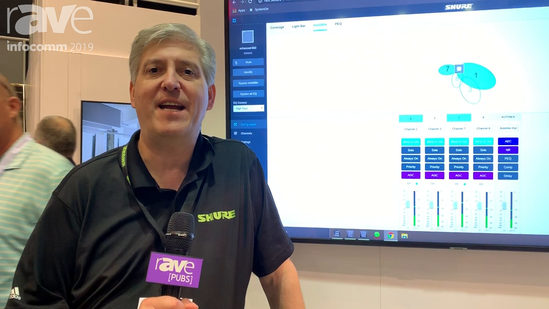 InfoComm 2019: Shure Adds IntelliMixDSP to MXA910 Ceiling Array Microphone
