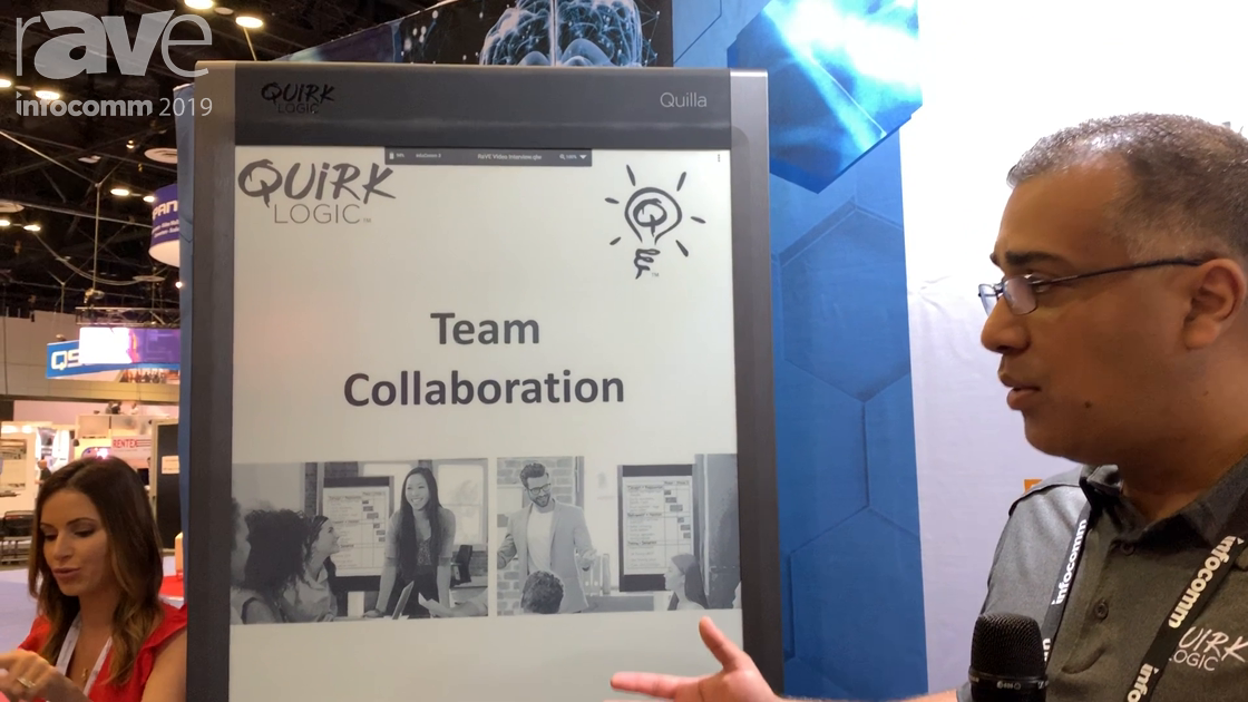 InfoComm 2019: QuirkLogic Shows Portable 24-Pound Quilla Team Collaboration E-Ink Display