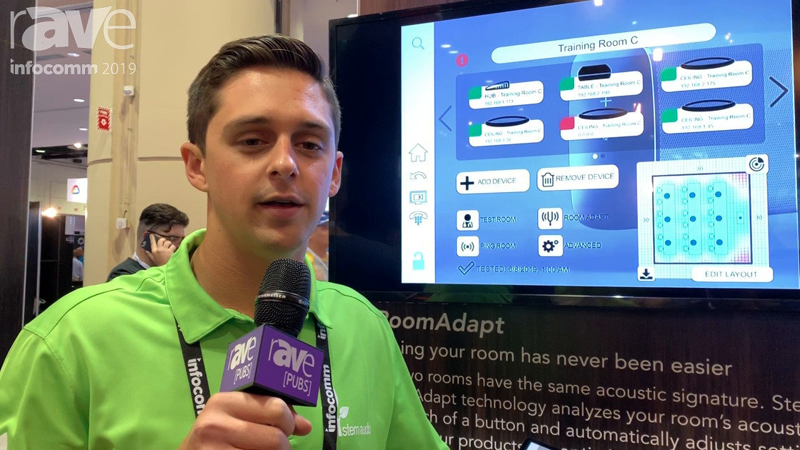 InfoComm 2019: Stem Audio's RoomAdapt Helps Optimize Audio Coverage for Conferencing/Collaboration