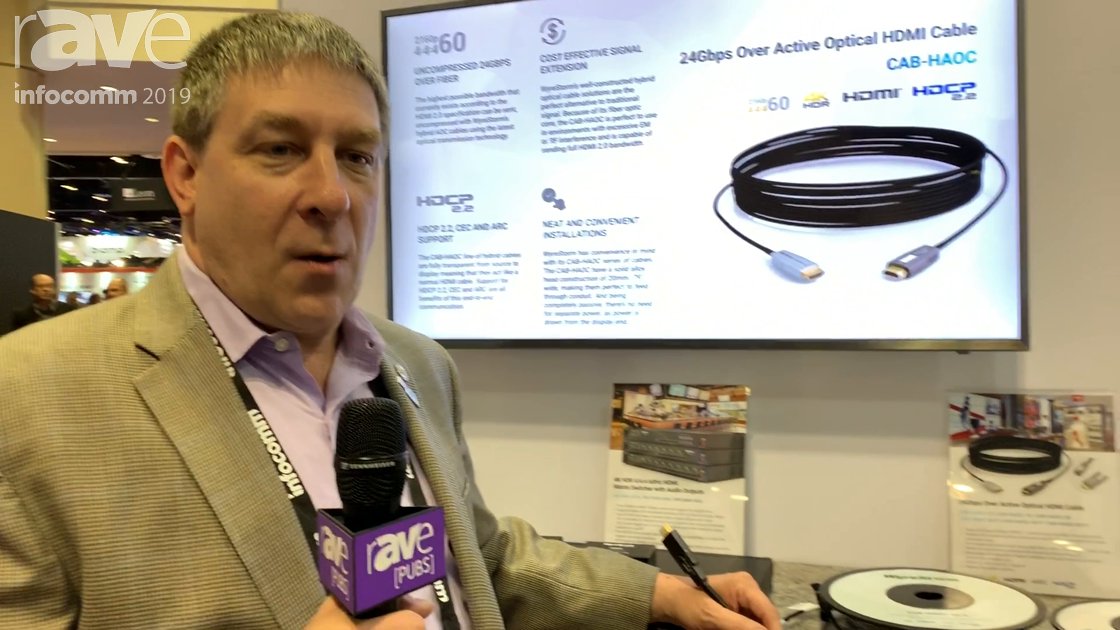 InfoComm 2019: Wyrestorm Showcases the Plenum-Rated CAB-HAOC Fiber Active Optical Cable