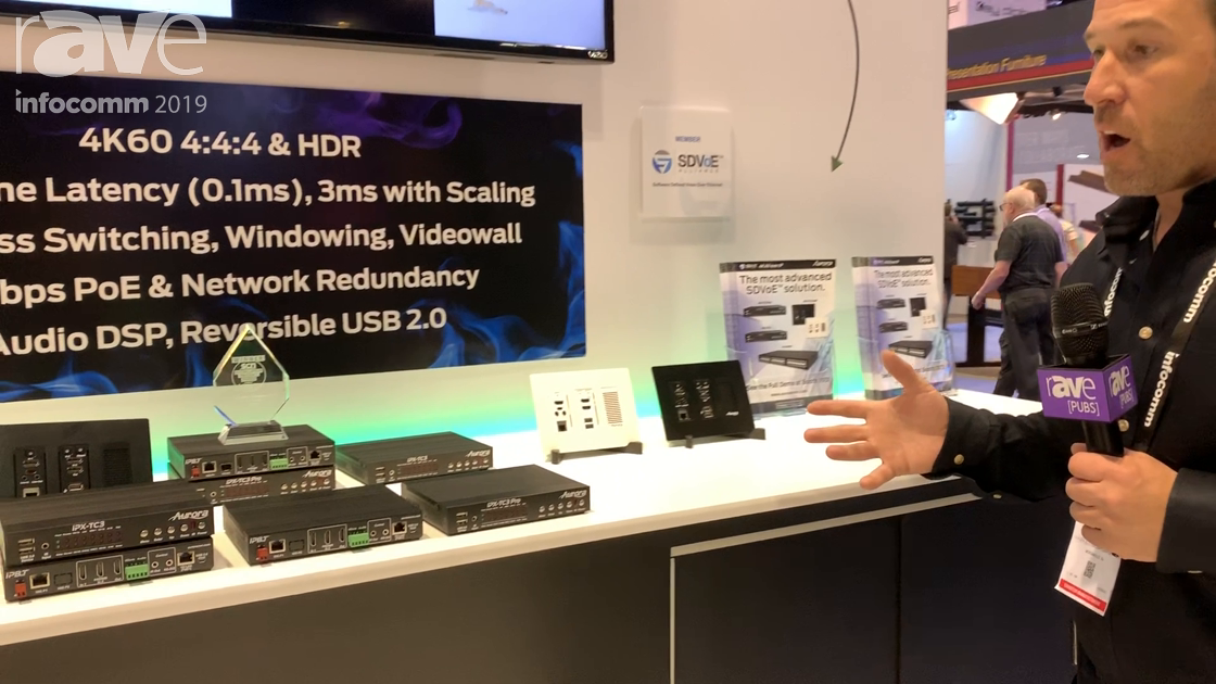 InfoComm 2019: Aurora Talks IPX Series for 10G SDVoE AV-Over-IP, Including Wall Transceiver Plate