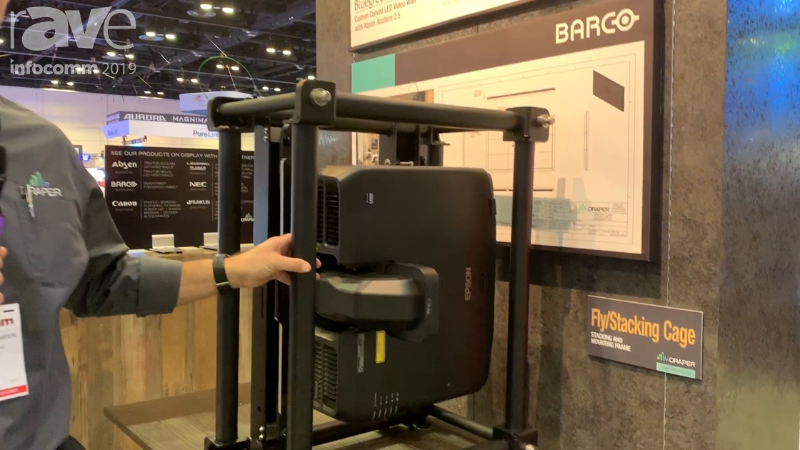 InfoComm 2019: Draper Features Custom Fly/Stacking Cage for Projectors