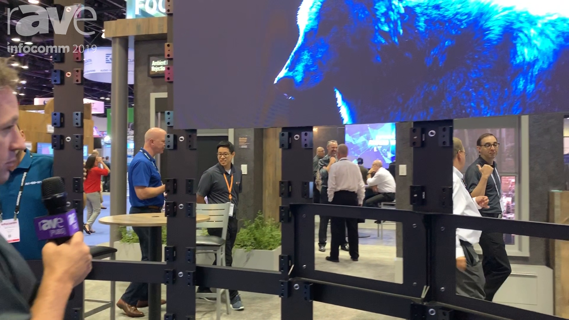 InfoComm 2019: Draper Features a Curved Video Wall Mount for Absen Acclaim 2.5 LED Display