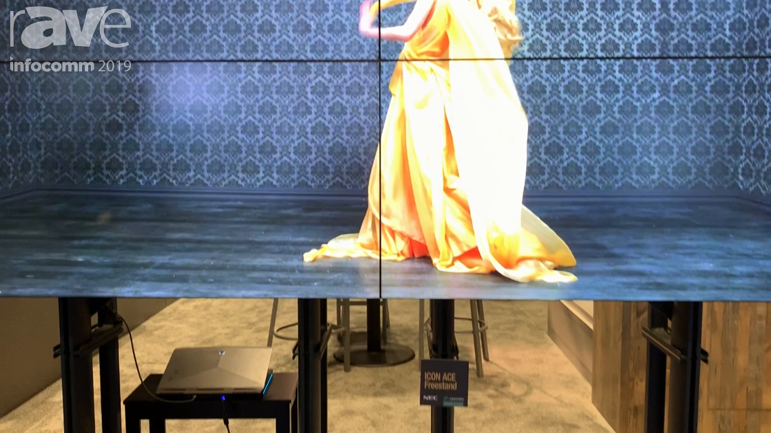 InfoComm 2019: Draper Shows Floor Stand for Video Walls With Easy Adjustments