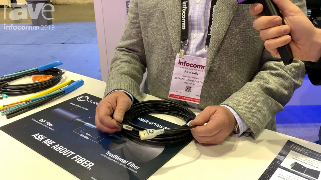 InfoComm 2019: Cleerline Technology Intros SSF Active Optical Cables With Four Fiber Starnds