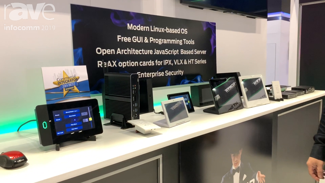 InfoComm 2019: Aurora Multimedia Features the ReAX System Based on JavaScript and Open Architecture