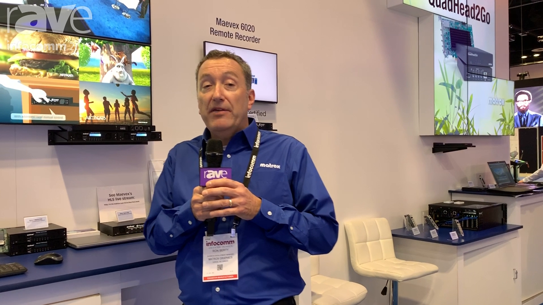 InfoComm 2019: Matrox Graphics Adds IPv6 Addressing, fMP4 Recording to Maevex 6100 Series Encoders