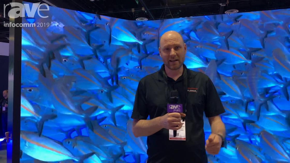 InfoComm 2019: Leyard Planar Intros CarbonLight CLI Flex Curved LED Wall Display