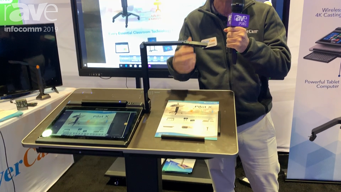 InfoComm 2019: HoverCam Unveils Pilot X Mobile, Battery-Powered Lectern and Doc Camera With Touch