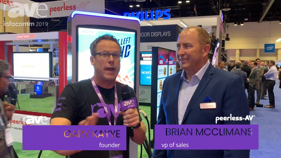 InfoComm 2019: Brian McClimans of Peerless-AV Takes Gary on a Booth Tour
