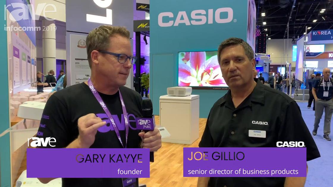 InfoComm 2019: Casio Expands LampFree Tech to 4K as Gary Kayye Catches Up with Joe Gillio