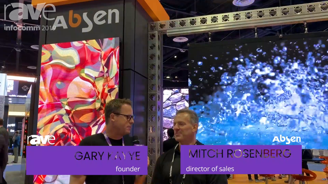 InfoComm 2019: Mitch Rosenberg from Absen Takes Gary Kayye on a Booth Tour