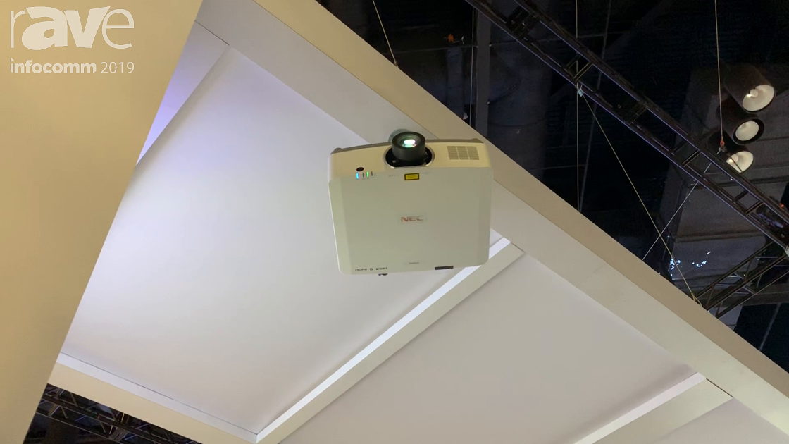 InfoComm 2019: NEC Display Demos PA803UL Projector in Projection Mapping Application