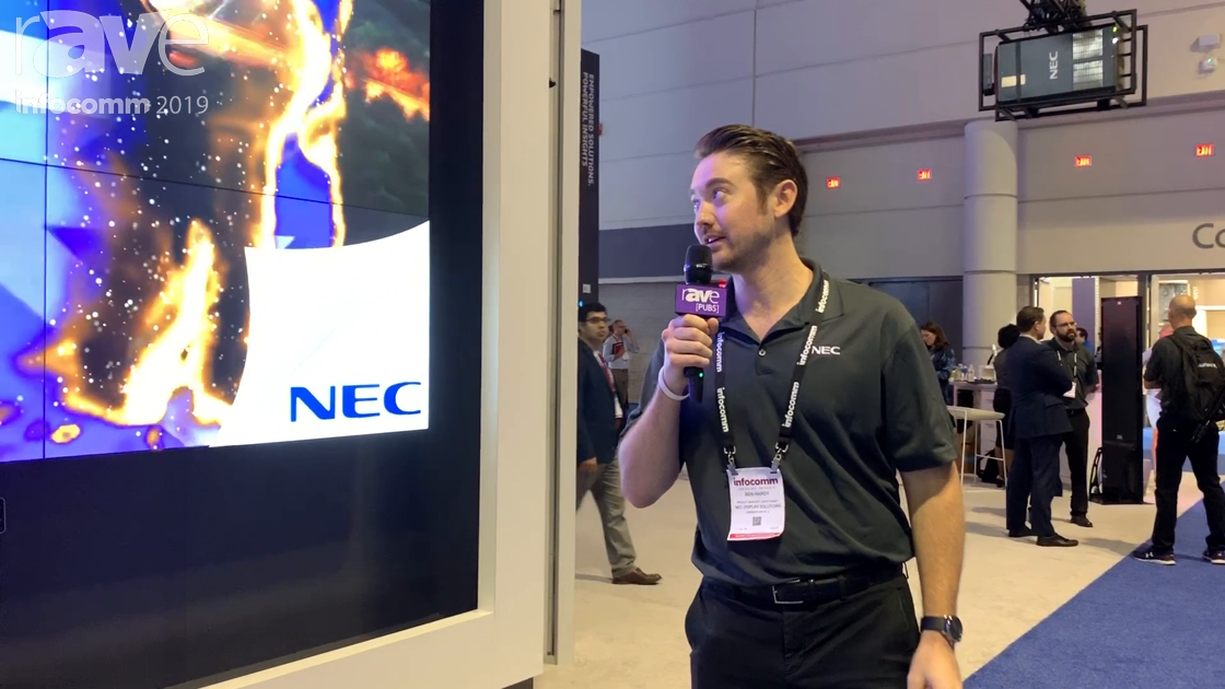 InfoComm 2019: NEC Display Shows Off Experiential Video Wall Using UN552S Displays With .88mm Bezel