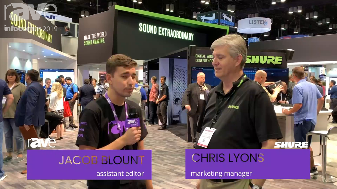 InfoComm 2019: Chris Lyons of Shure Focuses on MXA910 Ceiling Array Mic With IntelliMix DSP