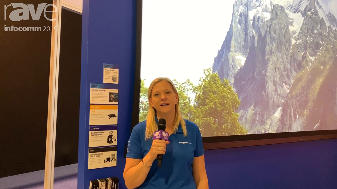 InfoComm 2019: Da-Lite Features the Wireline Advantage 220″ Diagonal with Parallax Stratos 1.0