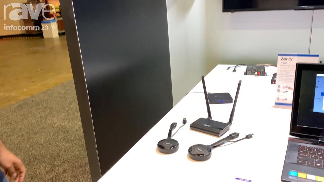 InfoComm 2019: J-Tech Digital Demos the Zenty ZT-W51 Wireless Presentation System