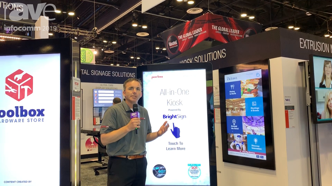 InfoComm 2019: Peerless-AV Debuts KIPICT2555 All-In-One Kiosk With XT1144 BrightSign Player